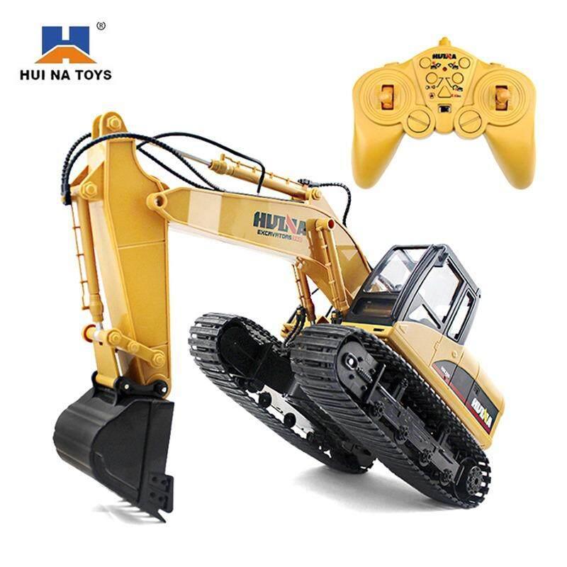 ราคา รถตักดินบังคับวิทยุ Hui Na Toys 15Ch Excavator 2 4Ghz รีโมทไร้สาย พิเศษ แถมหัวชุดคีบจับ ออนไลน์