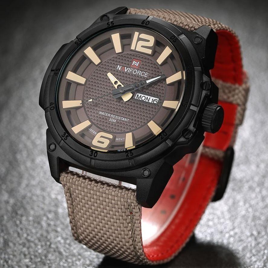 โปรโมชั่น รับประกัน 1 ปี นาฬิกาข้อมือ Naviforce ระบบควอตซ์ สายผ้าไนล่อน รุ่น Nf9066 กันน้ำ นนทบุรี