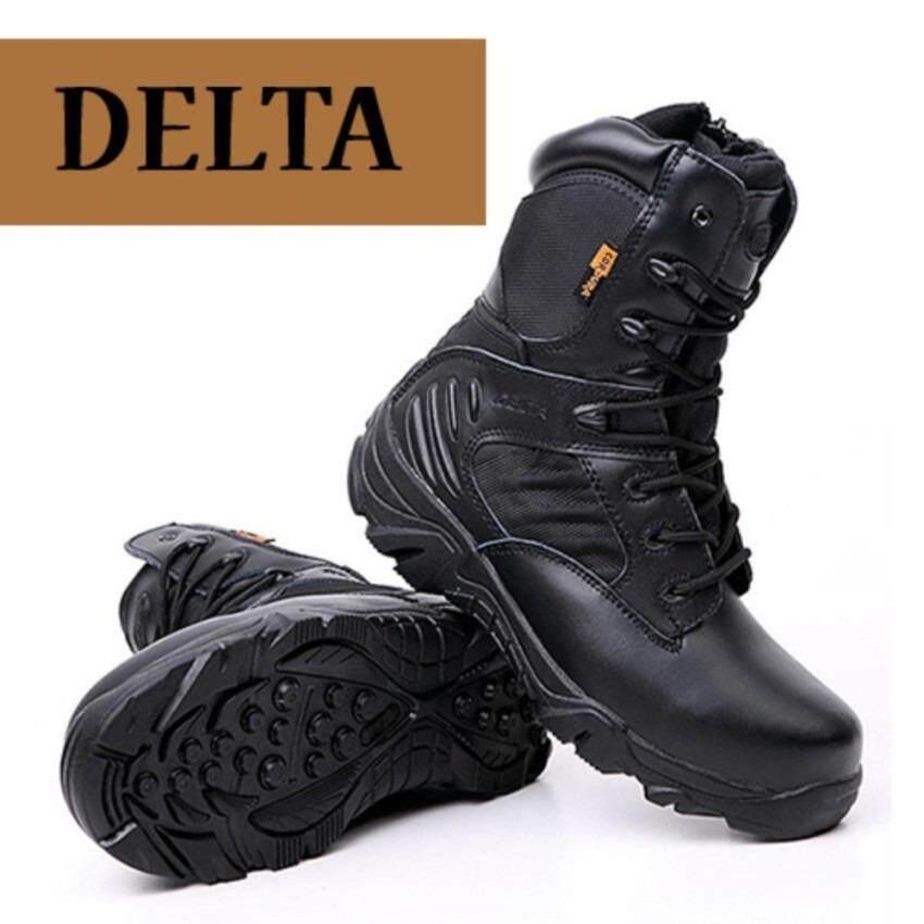 ราคา รองเท้าหนัง Delta รองเท้าคอมแบท สไตส์ทหาร รองเท้าหนังข้อยาว หุ้มข้อ รองเท้าบูท ที่สุด