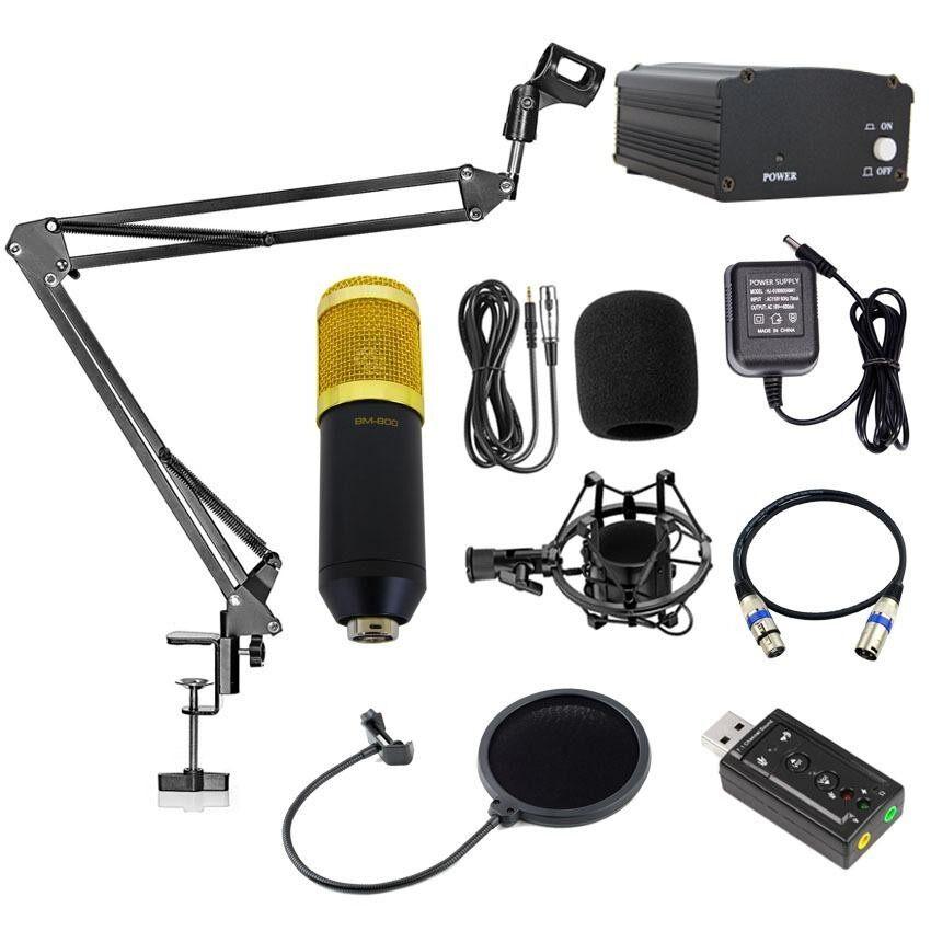 ทบทวน Elit ไมค์ Bm800 พร้อมอุปกรณ์ห้องอัดครบเซ็ต ไมค์อัดเสียง ขาตั้งไมค์ Mic Pop Filter Phantom 48V Usb Sound Card และสาย Xlr Elit