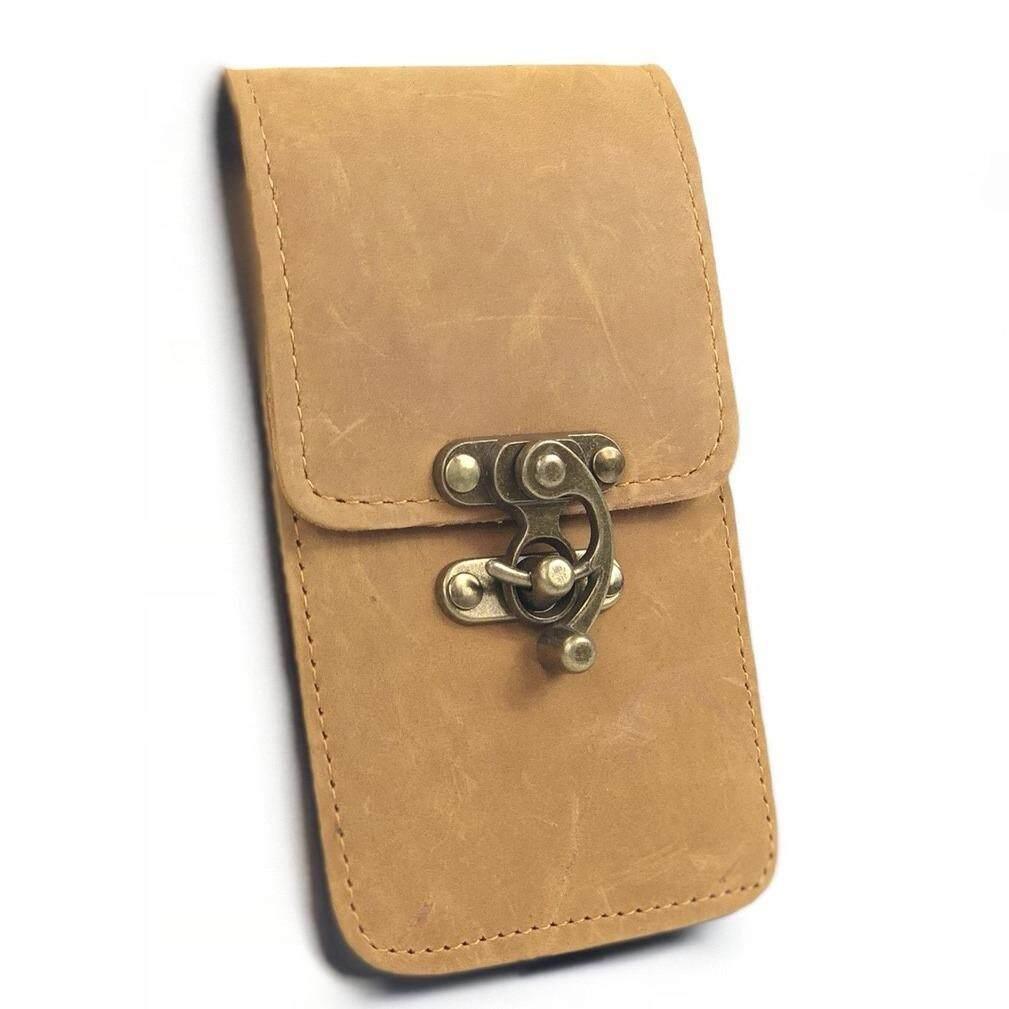 ส่วนลด Chinatown Leather กระเป๋ามือถือร้อยเข็มขัดหนังวัวแท้ ดูบัค แนวตั้ง Iphone 7 8 พลัส สีแทน กรุงเทพมหานคร