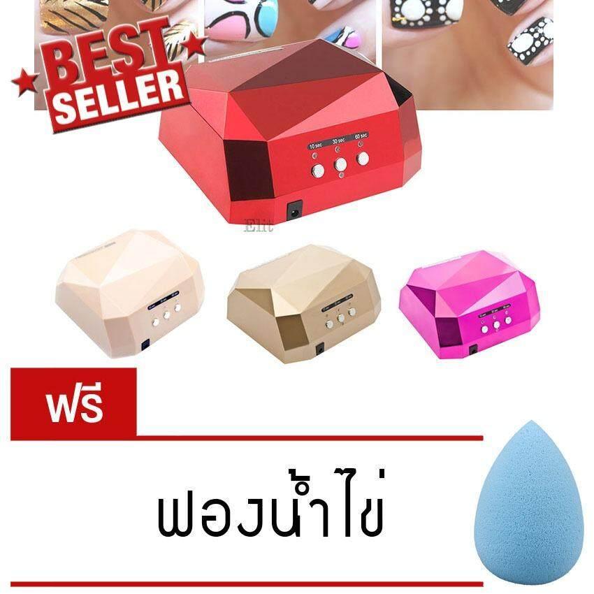 ซื้อ Elit เครื่องอบเล็บ อบเจล ต่อเล็บ ไฟLed Uv แบบอัตโนมัติ Uv Nail Gel Dryer รุ่น Ndy03 Hk แถมฟรี ฟองน้ำไข่ Elit