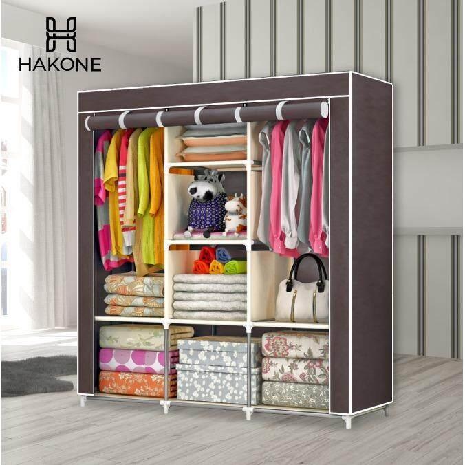 ขาย Hakone ตู้เสื้อผ้า พร้อมช่องเก็บของมีผ้าคลุมกันน้ำกันฝุ่น 3 บล็อค โครงเหล็กพ่นสีกันสนิท รุ่น 3 Block เป็นต้นฉบับ
