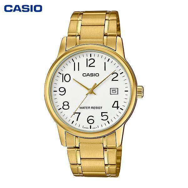 ขาย Casio Standard นาฬิกาข้อมือผู้ชาย สายสแตนเลสรุ่น Mtp V002G 1B เรือนทอง ออนไลน์ ปทุมธานี