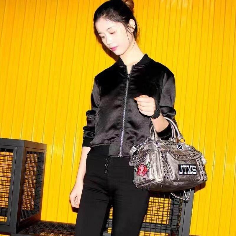 ขาย หมุดของแท้ใหม่ไหล่แบบพกพาของ Messenger ผู้หญิงกระเป๋า 8029 สีดำทรัมเป็ต