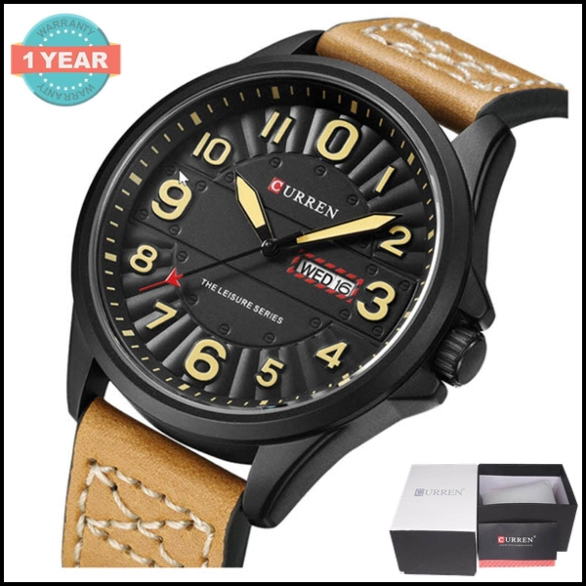 ขาย Curren นาฬิกาข้อมือผู้ชาย แท้100 แสดงตัวเลขชัดเจน แสดงวันที่และวัน สายหนัง รุ่น C8269 พร้อมกล่องนาฬิกา Curren ออนไลน์ ใน สมุทรปราการ