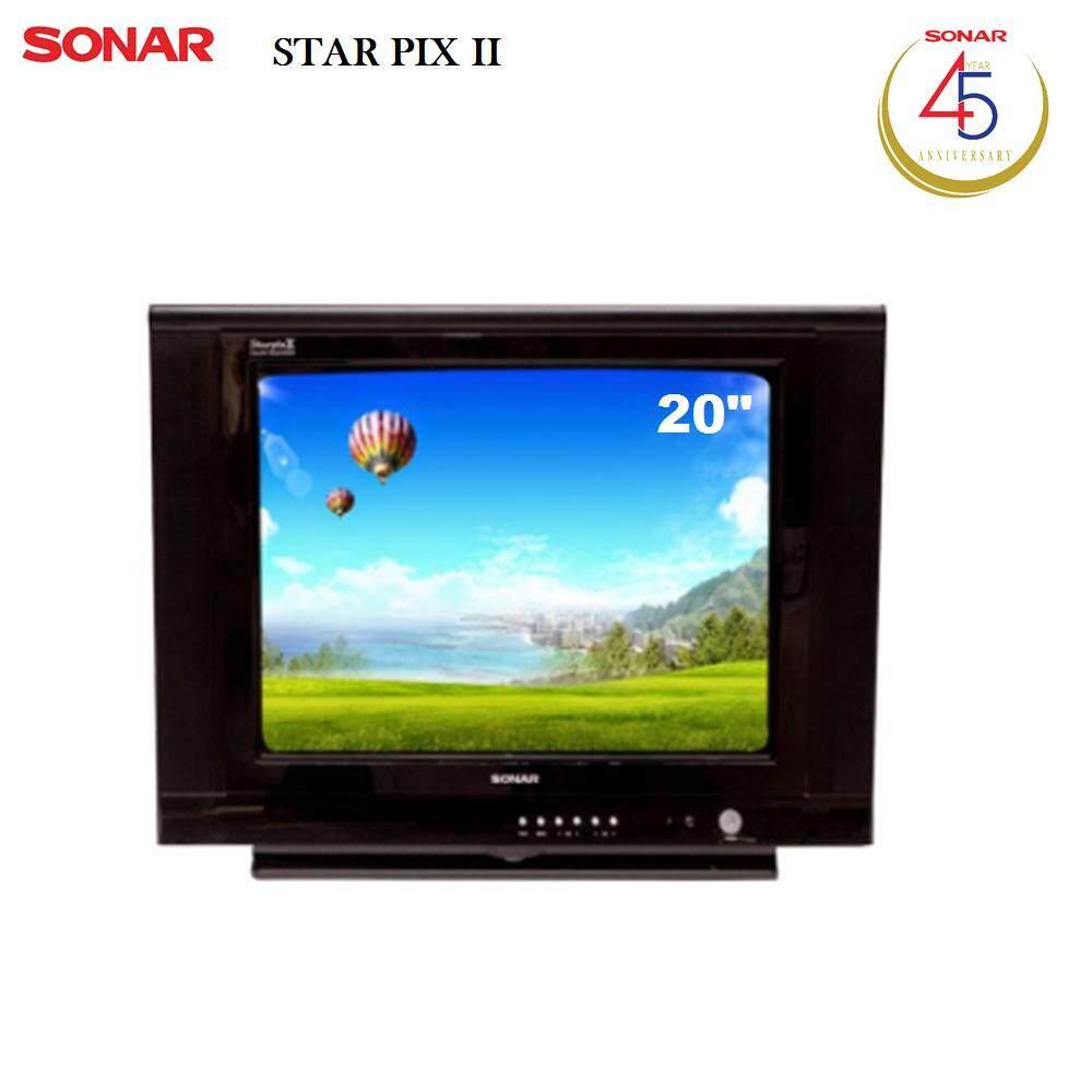 Sonar Crt Tv 20 นิ้ว Star Pix Ll รุ่น Ctv 5420 Black Thailand