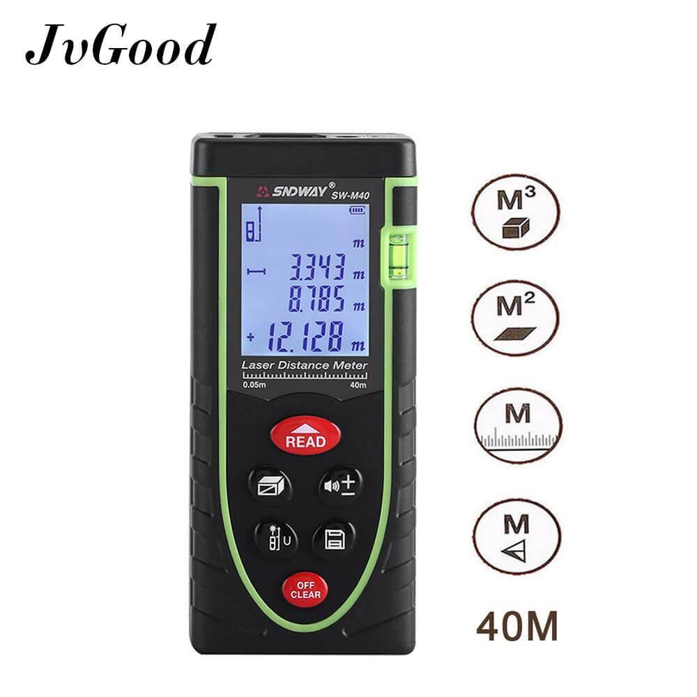 ราคา Jvgood Laser Distance Measure 40M อุปกรณ์วัดระยะและปรับระดับ ระดับเลเซอร์แบบใช้มือถือ Rangefinder Jvgood