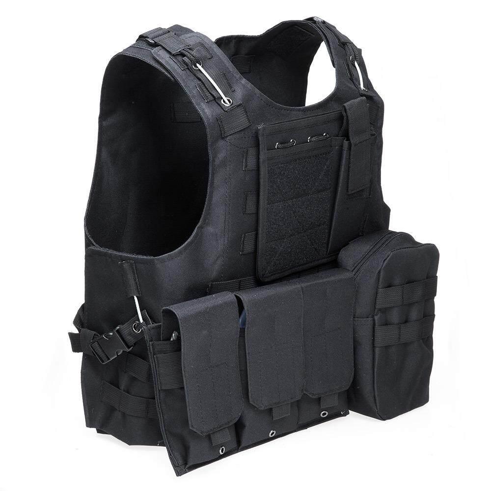 WINS เสื้อกั้ก tactical ลายพรางแบบถอดประกอบได้ - สีดำ