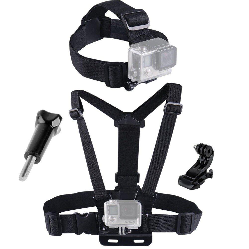 ราคา สายคาดหัว สายคาดอก พร้อมอุปกรณ์ยึดกล้อง Gopro Accessories Chest Strap Belt Body Tripod Harness Mount For Gopro Hero6 5 4 3 2 1 Sjcam Xiaomi Yi Camera ใหม่