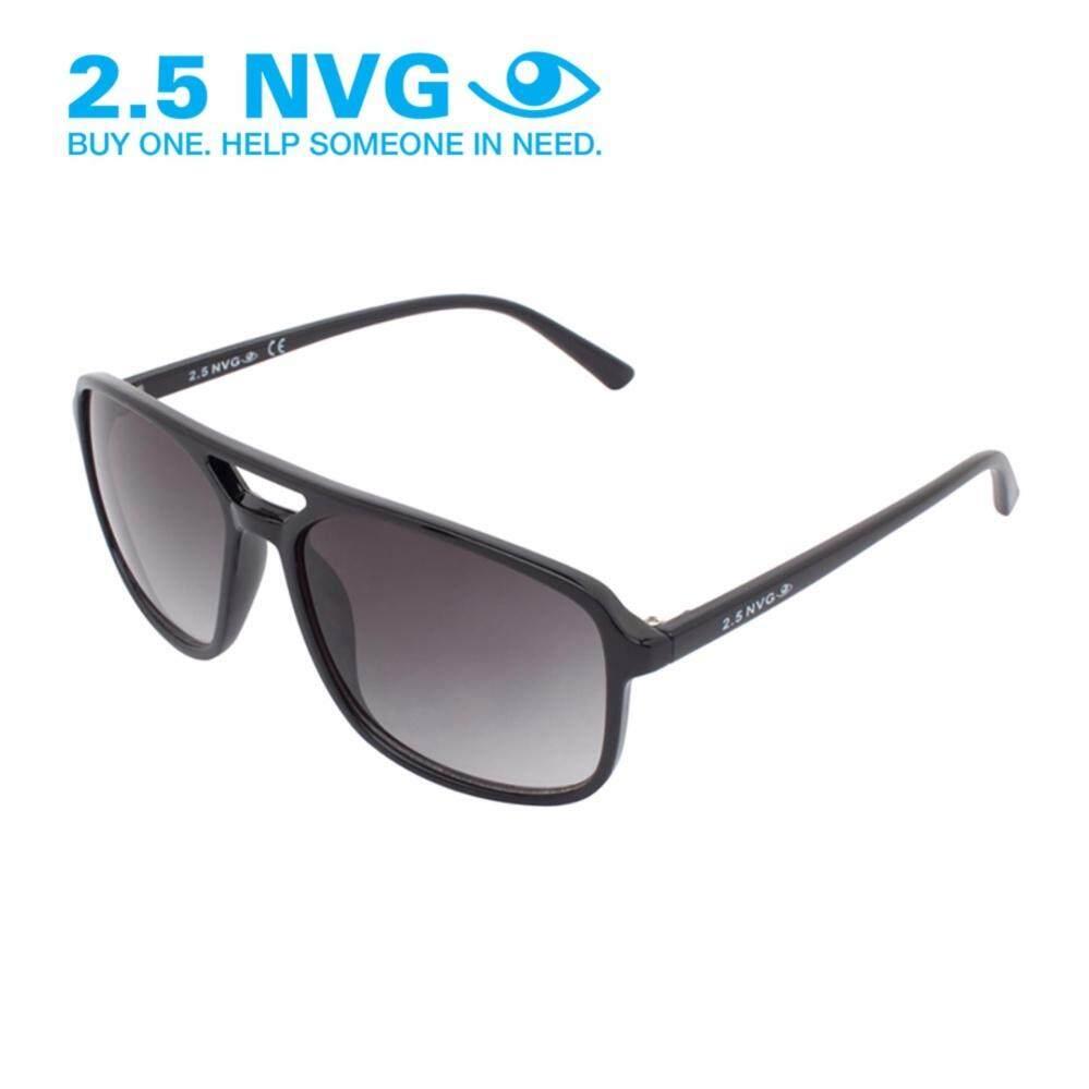 ขาย 2 5 Nvg แว่นกันแดดสำหรับผู้ชาย กรอบทรงนักบินสี่เหลี่ยมผืนผ้าสีดำ เลนส์ป้องกันรังสี Uv400 สีดำ Sun 101 0202 ฮ่องกง