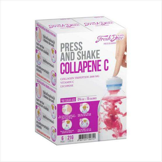 เพรสแอนด์เชด Press&shake Collagen คอลลาพีน.ซี 3.5 กรัม (1 แพ็ค 6 ชิ้น).