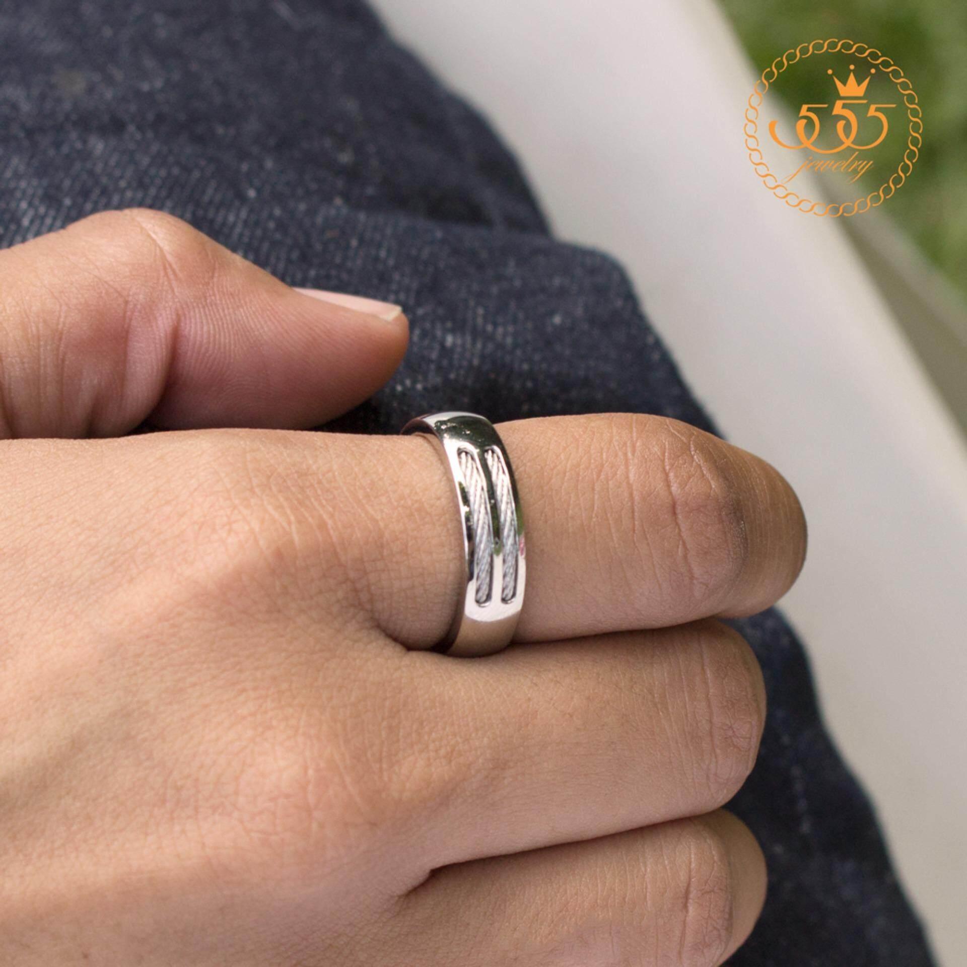 โปรโมชั่น 555Jewelry แหวน รุ่น Mnc R373 A สี Steel แหวนคู่รัก แหวนคู่ แหวนผู้ชายเท่ๆ แหวนแฟชั่นชาย แหวนผู้ชาย แหวนของผู้ชาย ไทย