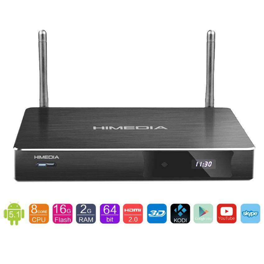 ขาย Himedia H8 Plus Smart Android Box Cpu Rk3368 Octa Core 64 Bit 4K Ram 2Gb Rom 16Gb Wifi 2 4 5 Ghz 5 1 Lollipop Black Smart Android Tv Box ใน Thailand