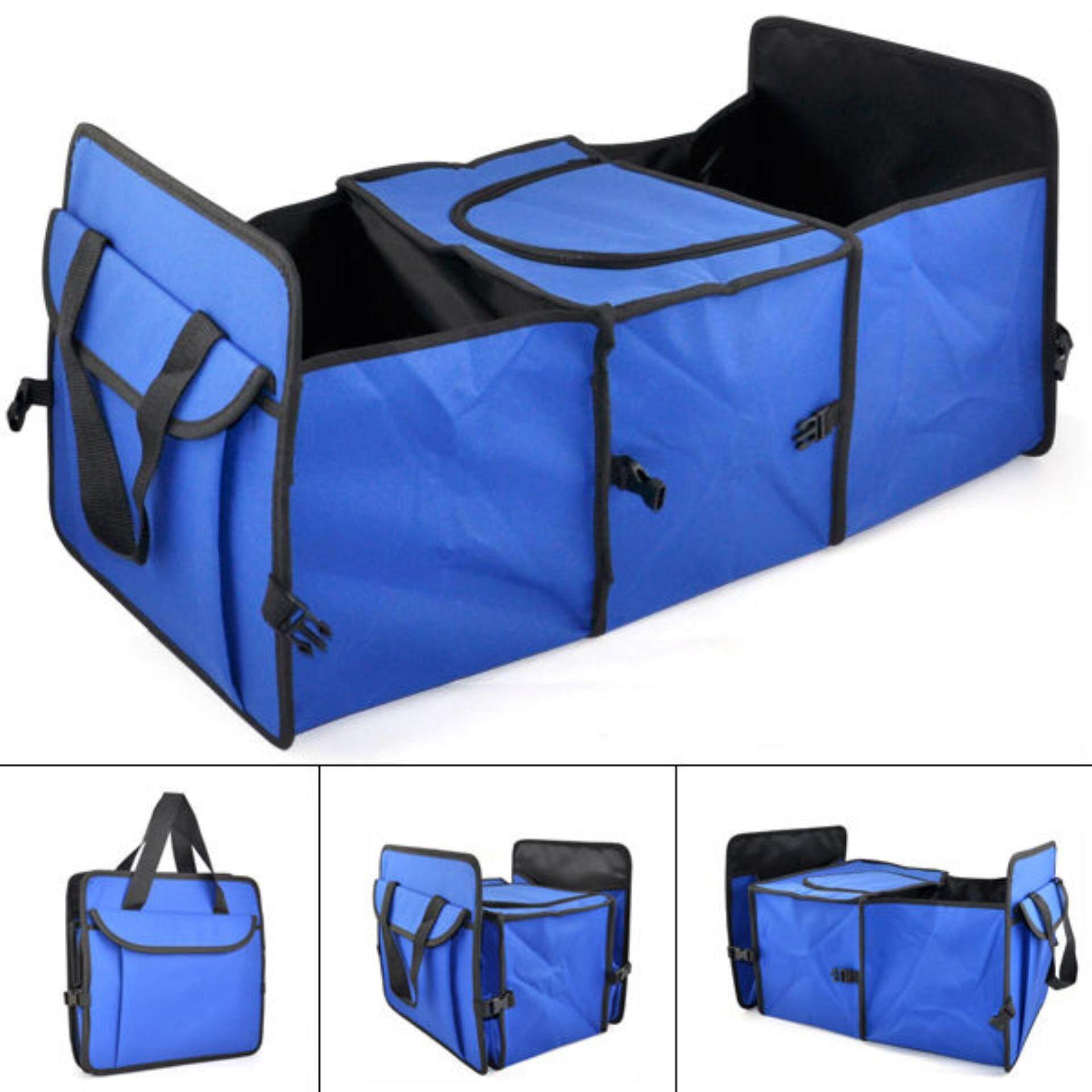 ขาย กล่องใส่ของเอนกประสงค์ ท้ายรถ กระเป๋าร้อน เย็น สีฟ้า