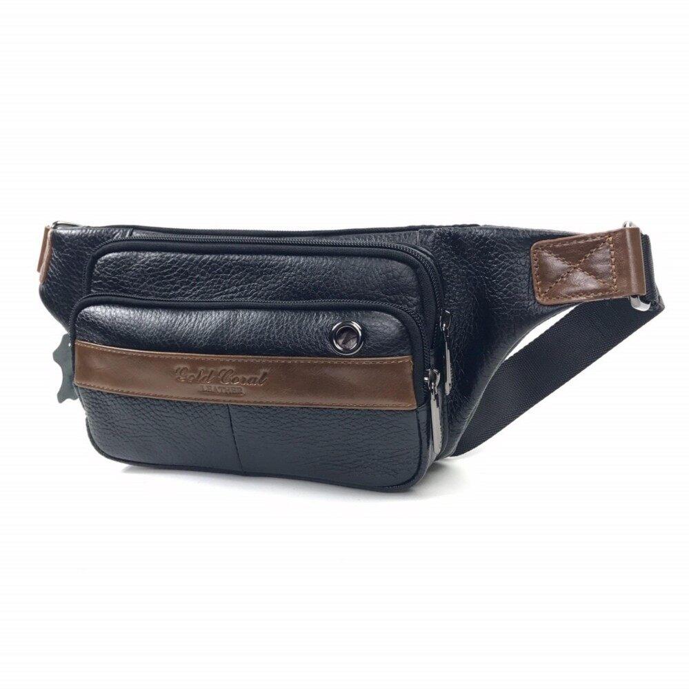 ขาย Chinatown Leather กระเป๋าคาดเอวหนังสะพายอกซิปยื่นสีทูโทน ถูก ใน กรุงเทพมหานคร