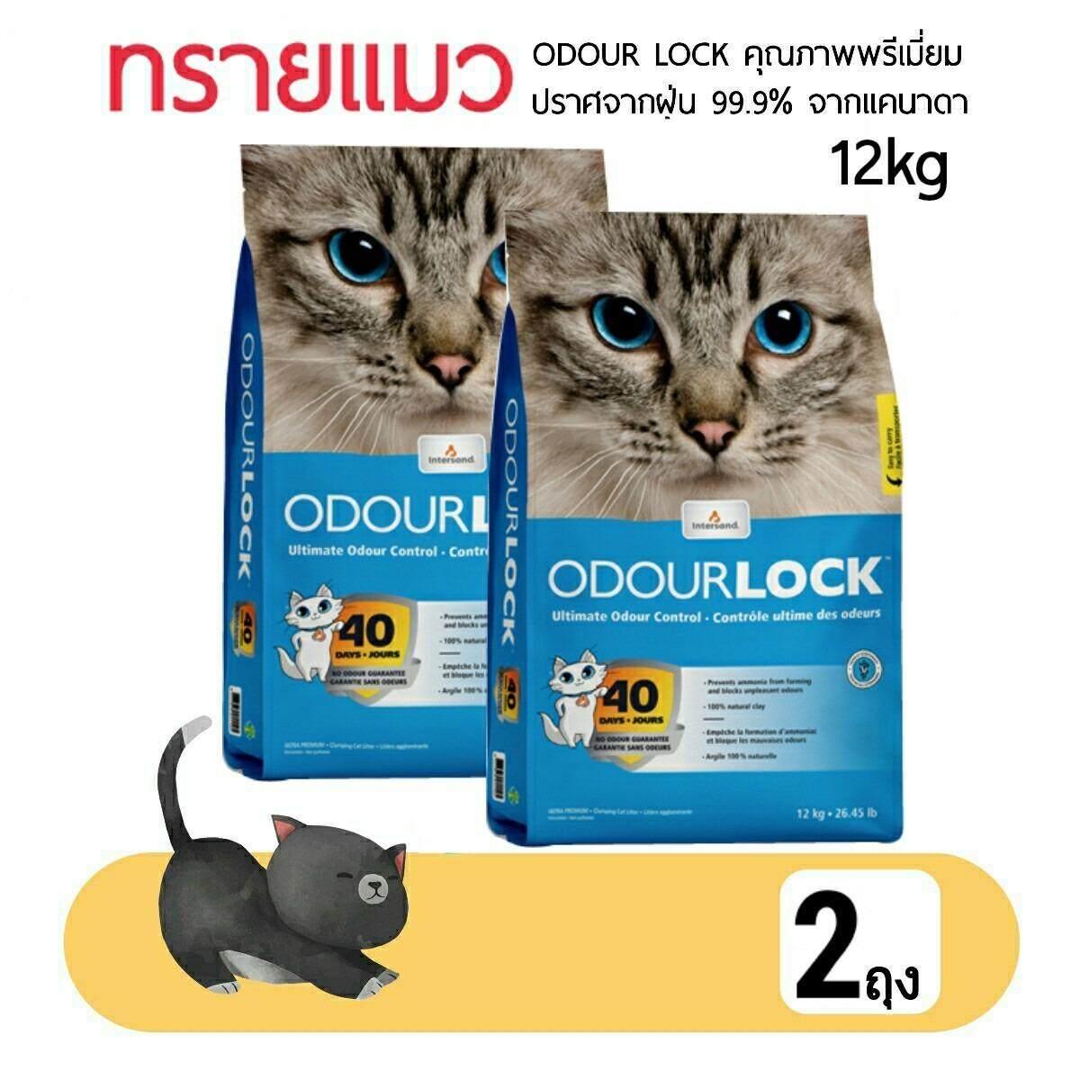 ส่วนลด 2 ถุง Odour Lock ทรายแมว คุณภาพพรีเมียม ปราศจากฝุ่น 99 99 ขนาด 12Kg Odour Lock ใน กรุงเทพมหานคร