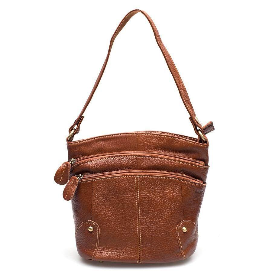 ราคา Chinatown Leather กระเป๋าสะพายหนังแท้ สำหรับใส่ Ipad Mini สีแทน ถูก
