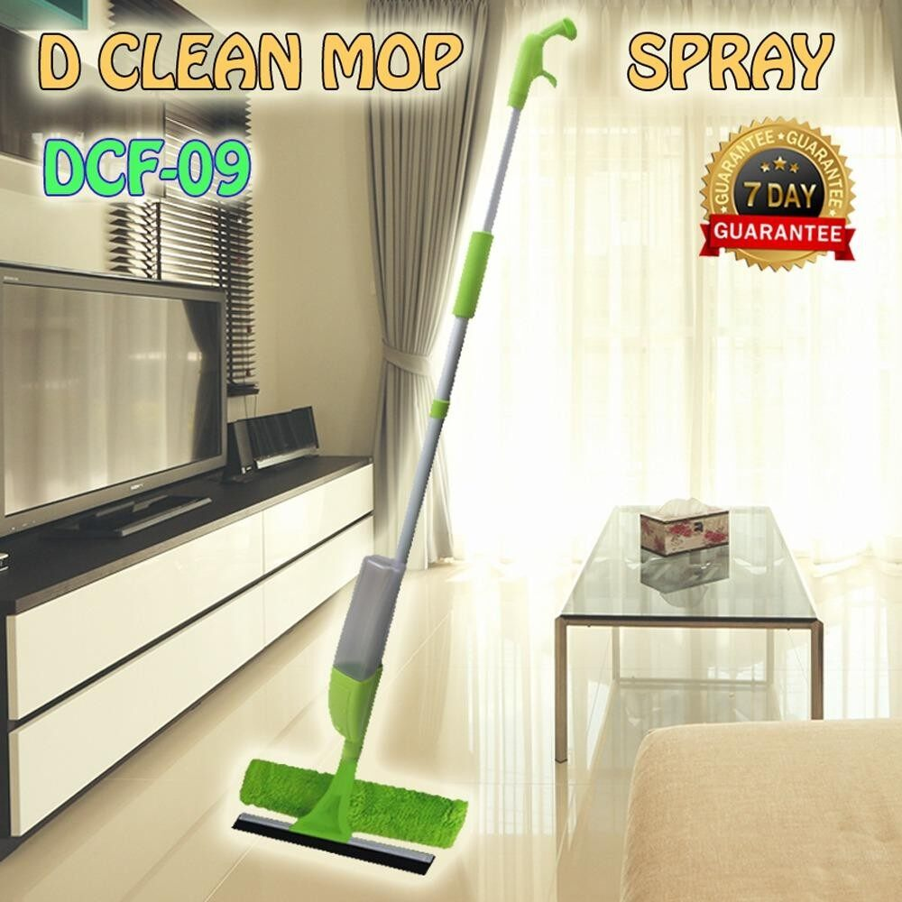 D'Clean Mop สเปรย์ม็อบ ถูพื้น รีดน้ำ เช็ดกระจก2 in 1 รุ่น DCF-09 (สีเขียว)