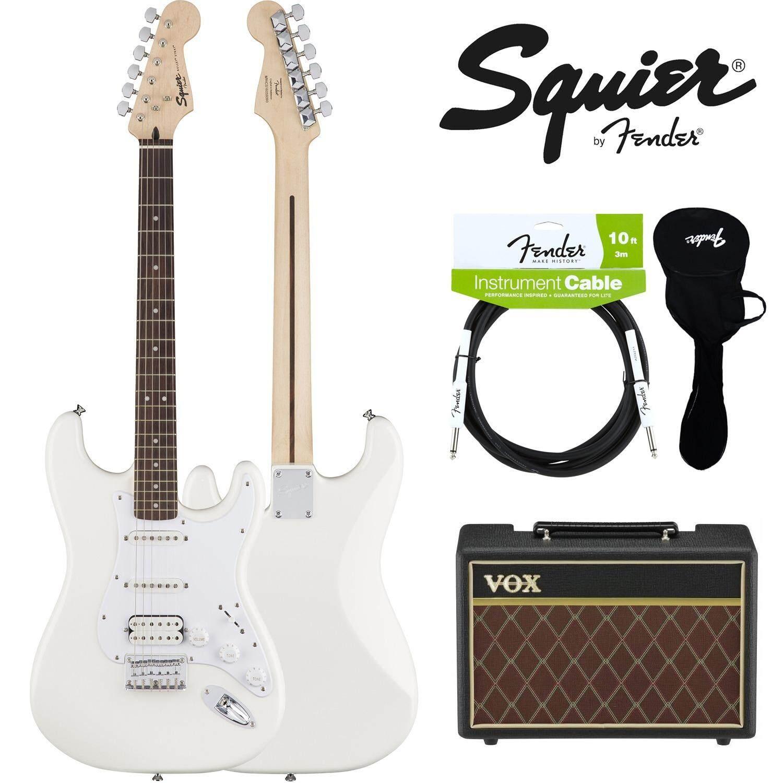 โปรโมชั่น Fender® กีตาร์ไฟฟ้า Hss รุ่น Squier Bullet Strat สี Artic White อุปกรณ์กีตาร์ของแท้
