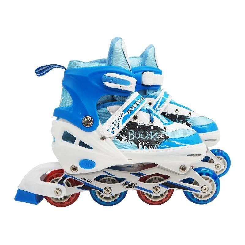 ซื้อ Power Aosite รองเท้าสเก็ต โรลเลอร์เบลด โรลเลอร์สเก็ต เล่น สเก็ต Size L 38 43 สีฟ้า ใหม่ล่าสุด