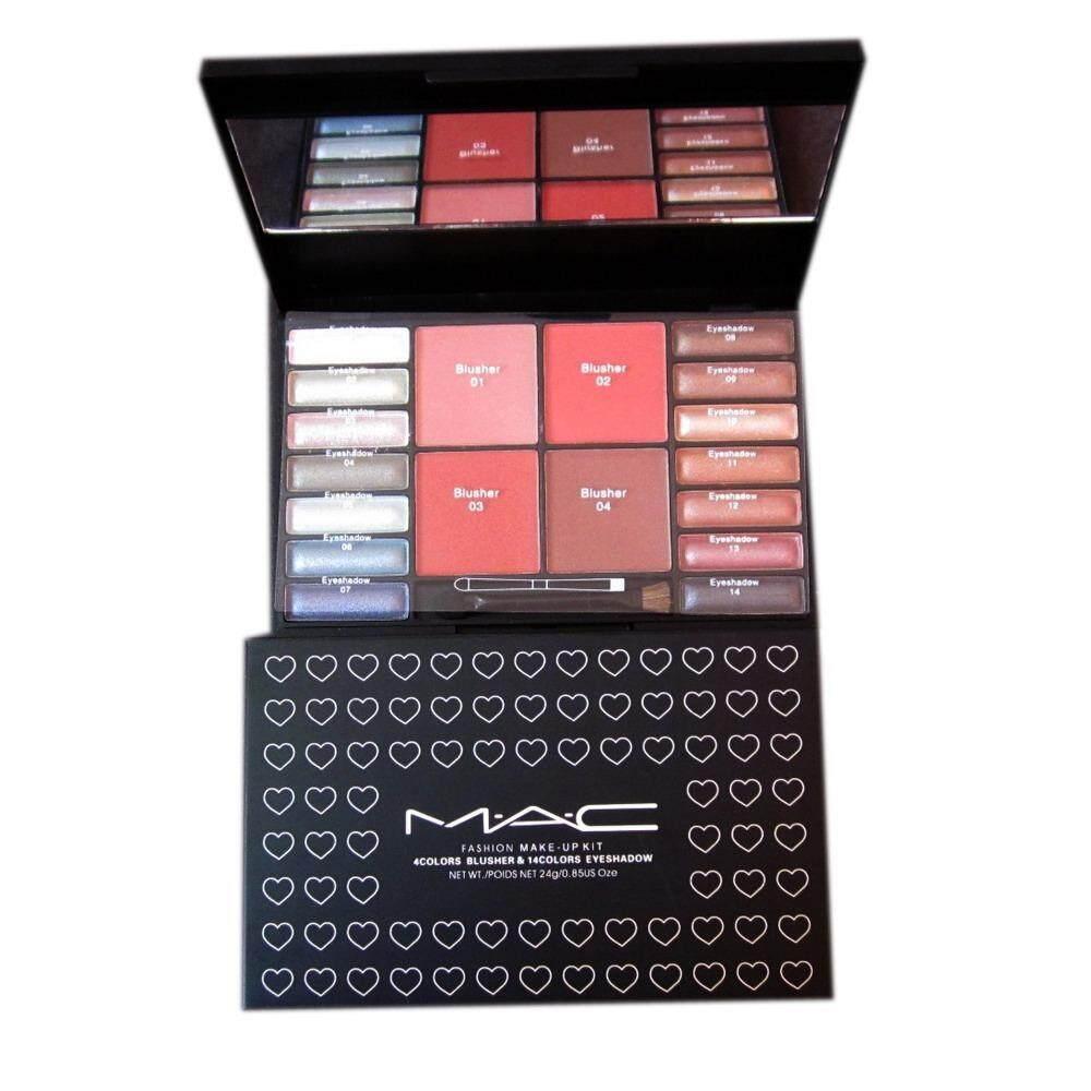 ซื้อ Mac Palette 4Color Blusher 14Color Eyeshadow พาเลตต์ ปัดแก้ม บลัชออน 4สี ทาตา อายแชโดว์ 14สี เครื่องสำอางค์ สำหรับดวงตา และใบหน้า Mac