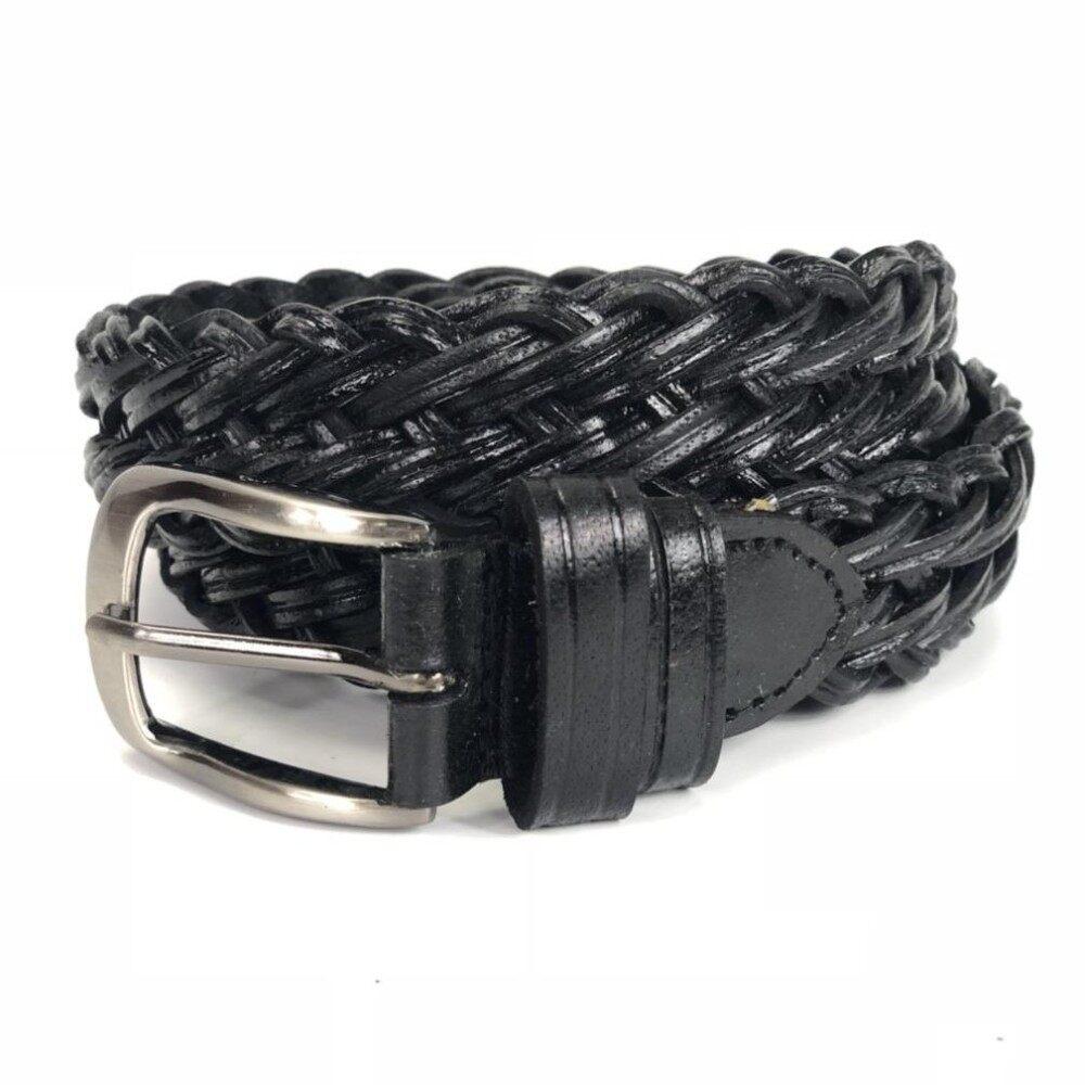 ความคิดเห็น Chinatown Leatherเข็มขัดหนังแท้ลายถักสีดำ1 2 นิ้ว