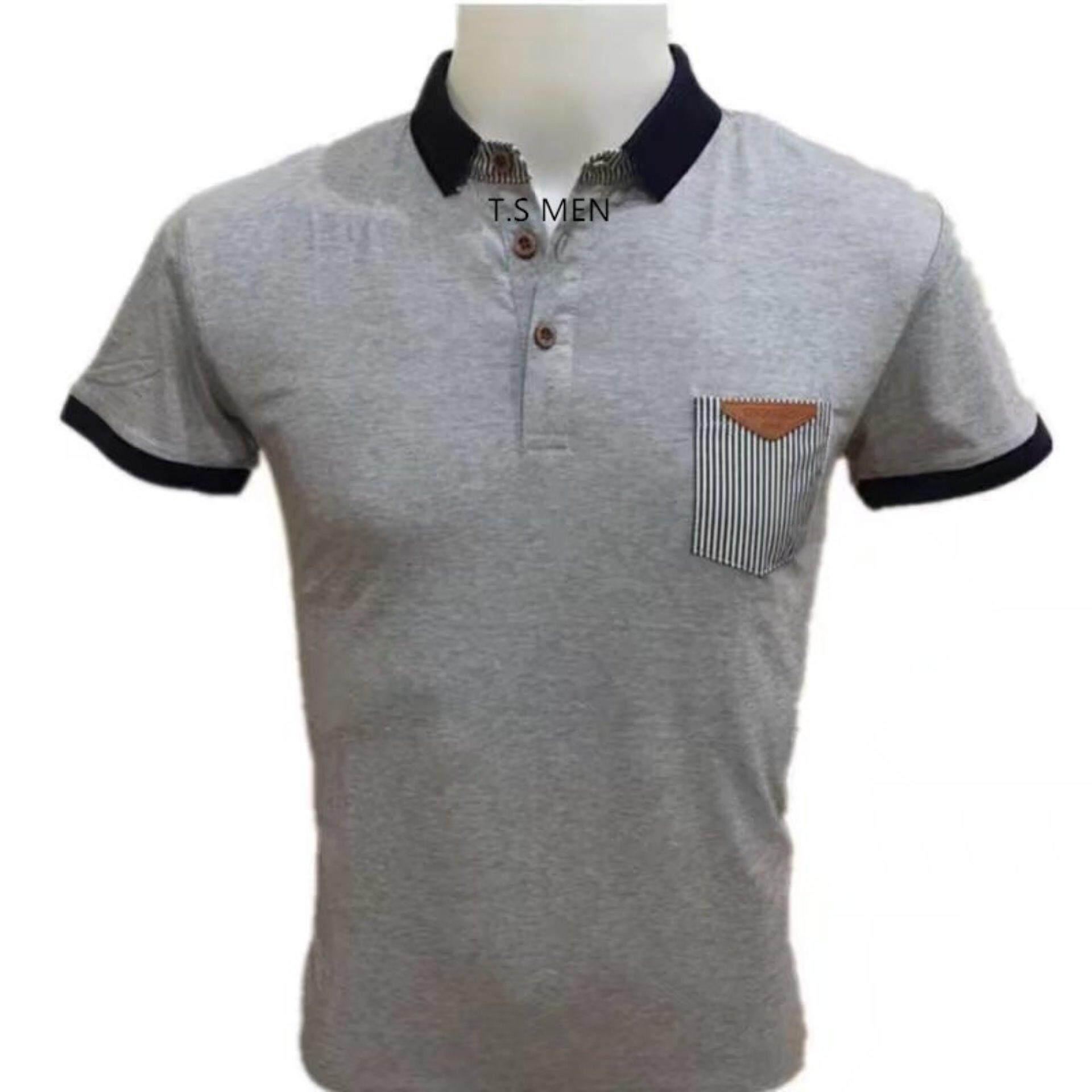 ราคา เสื้อยืดผู้ชายMen S T Shirtเสื้อยืดแฟชั่นผู้ชาย Polo Shirtเสื้อโปโล เป็นต้นฉบับ Oemgenuine