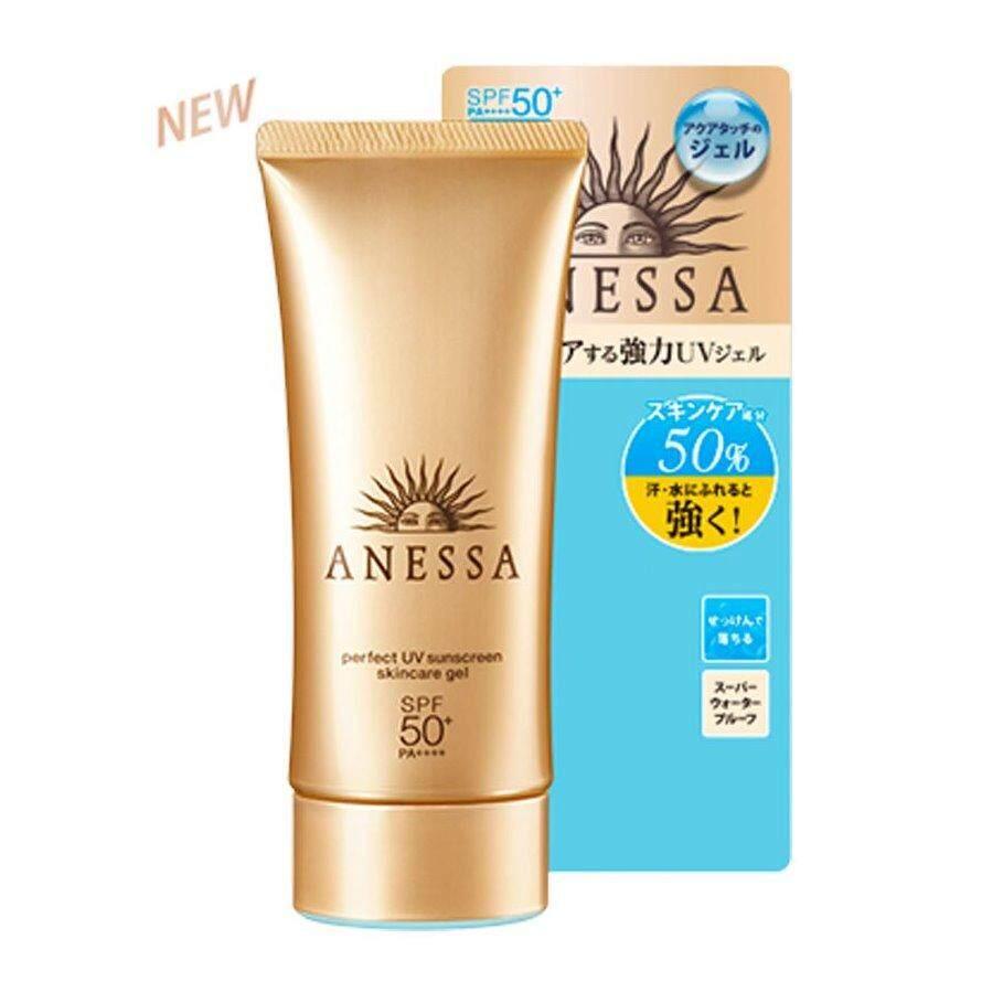 ซื้อ Anessa Perfect Uv Sunscreen Skin Care Gel Spf50 Pa อเนสซ่า เจลกันแดด สีทอง 90Ml สูตรใหม่ 2018 ถูก