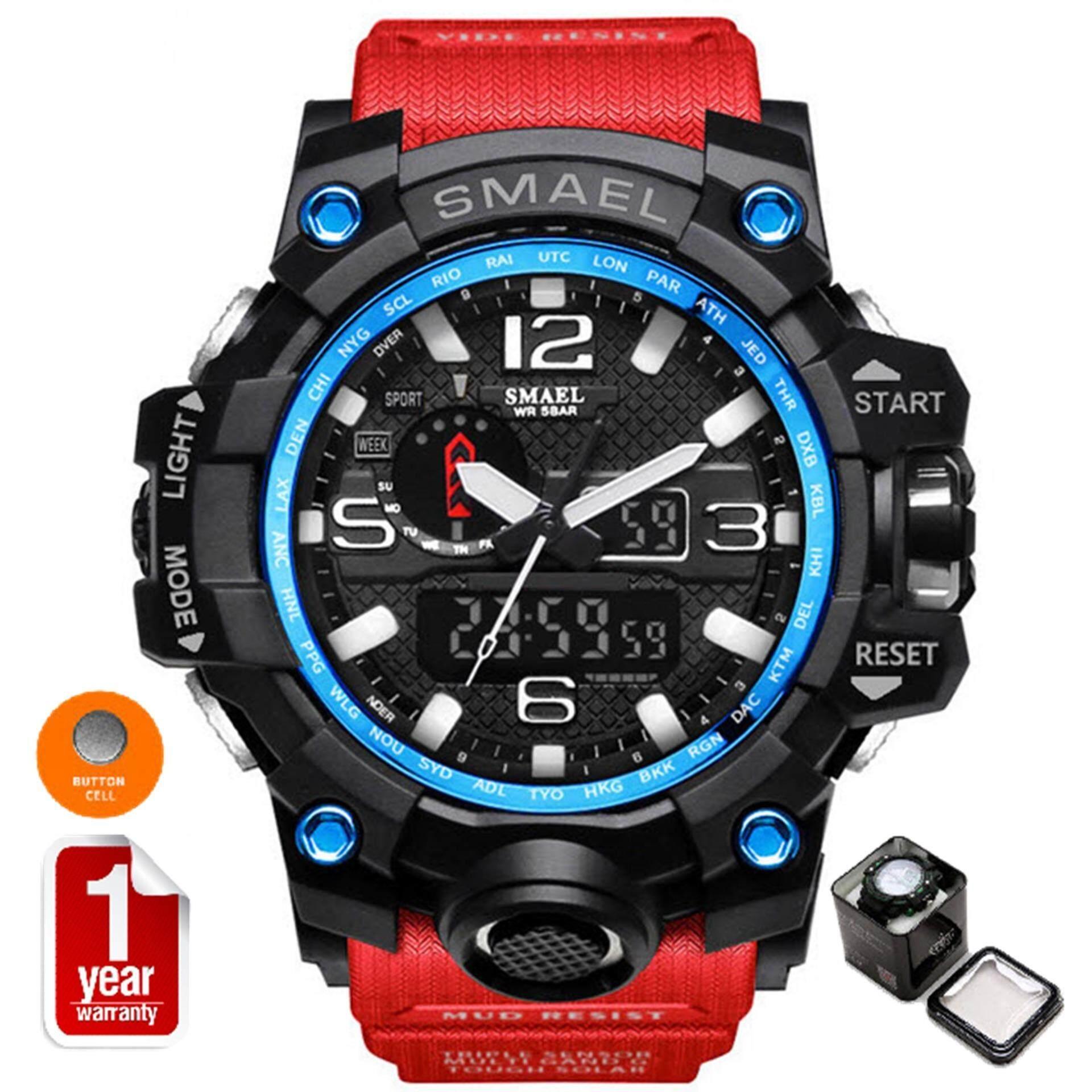 ซื้อ Smael นาฬิกาข้อมือผู้ชาย Sport Digital Led รุ่น Sm1545 Red ใหม่