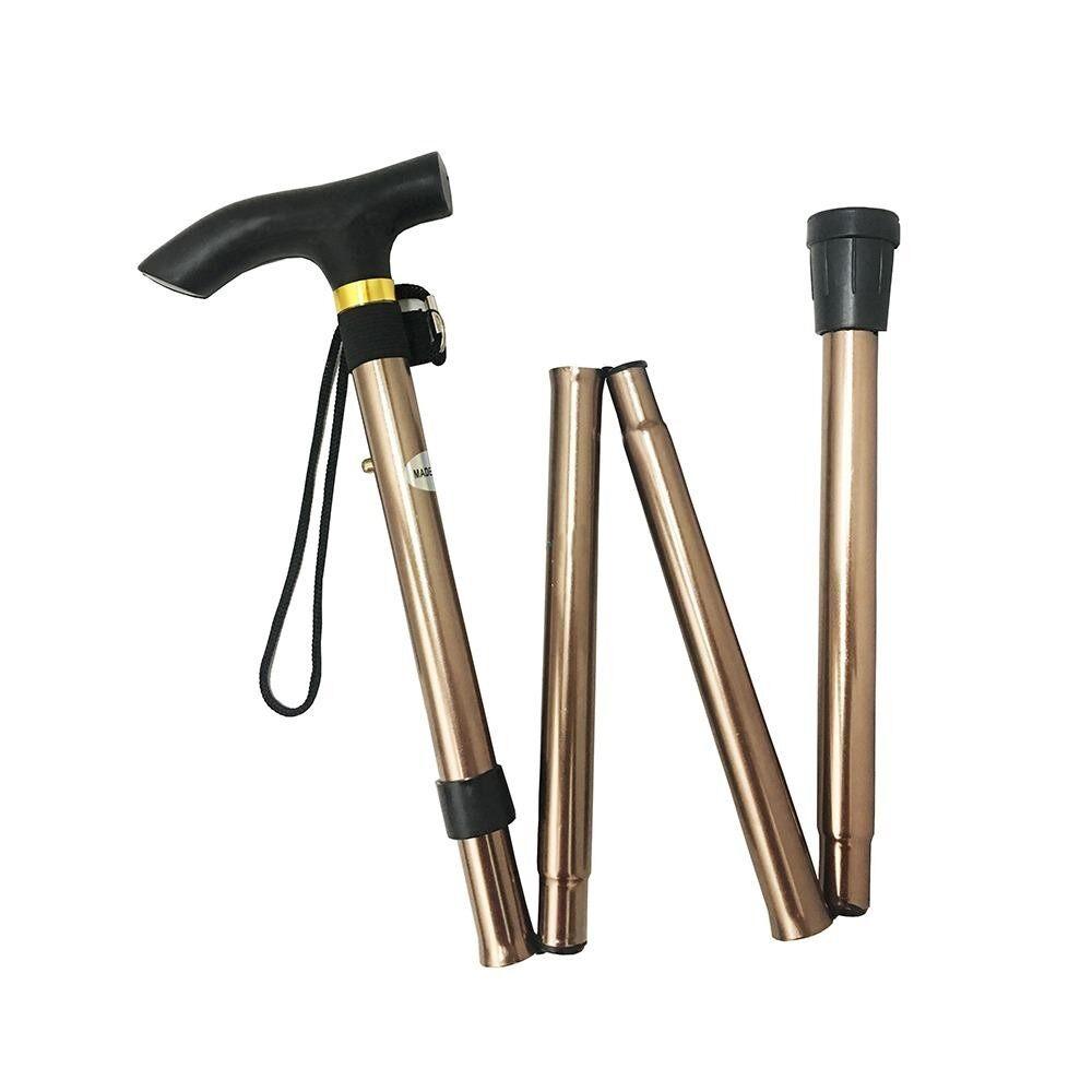 ทบทวน ที่สุด Health Adjustable Fold Walking Stick ไม้เท้าช่วยพยุง ไม้เท้าเดินป่า อลูมิเนียม แบบพับเก็บได้