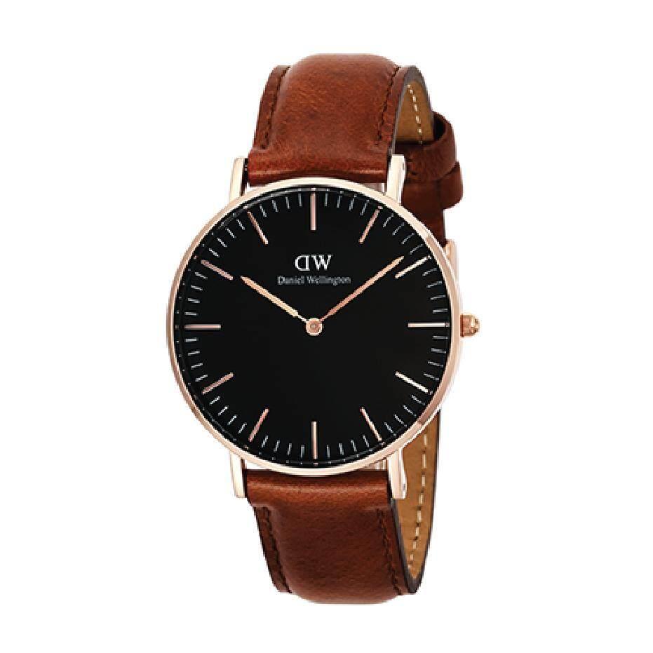 Daniel Wellington Dw00100136 Classic Black St Mawes 36Mm นาฬิกาข้อมือ แฟชั่น ผู้หญิง สายหนัง สีดำ Women Watch Black Dial Brown Strap ถูก