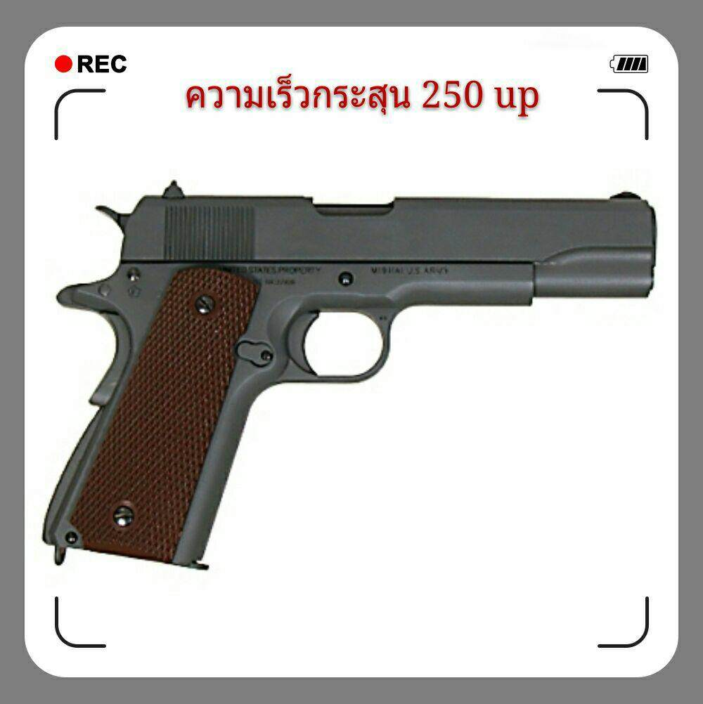 ปืนอัดลมเหล็ก Colt 1911Green Olive สับนก เซฟตี้ได้