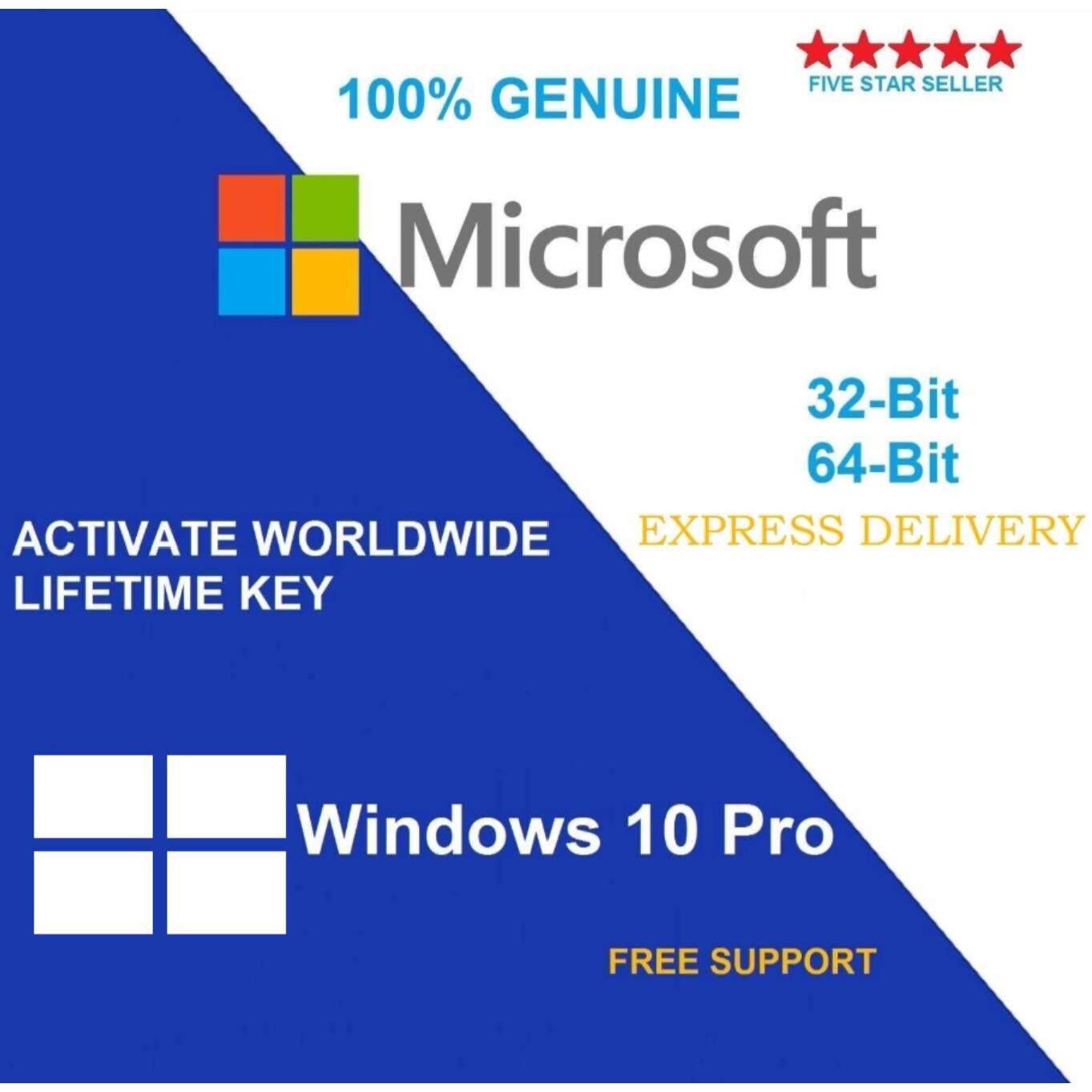 ขาย Microsoft Windows 10 Pro 32 64Bit License Oem Only Key เฉพาะ Key Microsoft Software