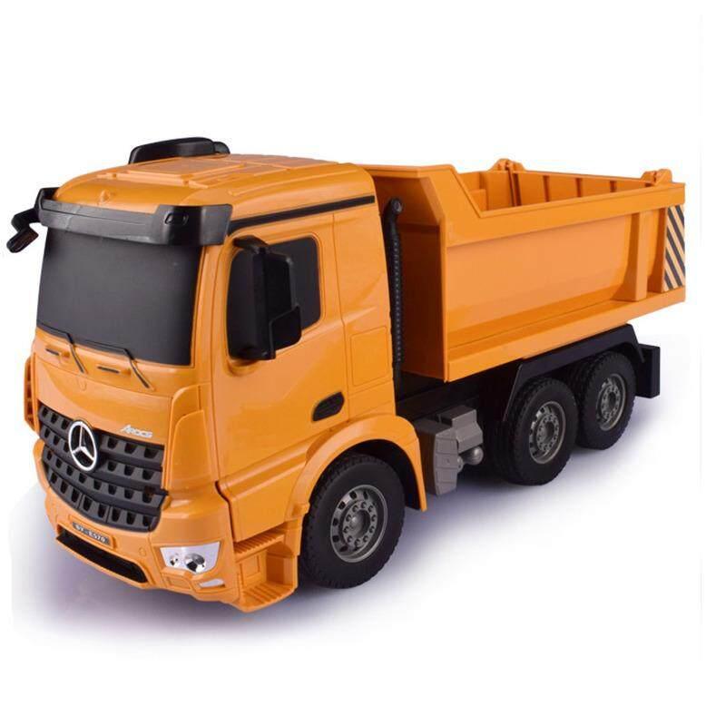 ส่วนลด สินค้า รถดั้มของเล่น รถดั้มบังคับวิทยุ รถบังคับไฟฟ้า รถก่อสร้างบังคับ Double Eagle Dump Truck 6 Ch ขนาด 1 26
