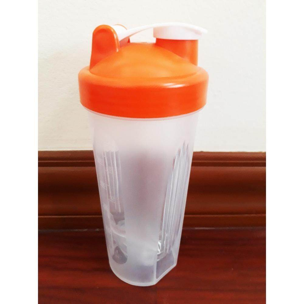 ราคา แก้วเชค ถ้วยเชค เชคเกอร์ ขนาด 600 Ml สำหรับผสมโปรตีน และชงอาหารเสริม สีส้ม ออนไลน์
