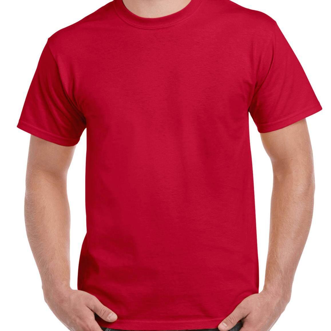 ขาย Tshirt ทีเชิ๊ตมาร์ท เสื้อยืดผ้าฝ้าย100 ทรง Regular Fit สีแดงสด Red Tshirtmart ใน กรุงเทพมหานคร