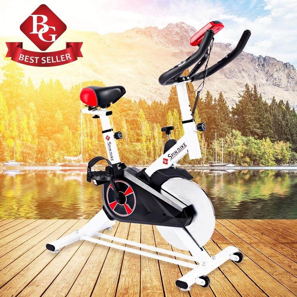 ซื้อ B G Fitness จักรยานออกกำลังกาย Spinning Bike White รุ่น S 303 ใหม่