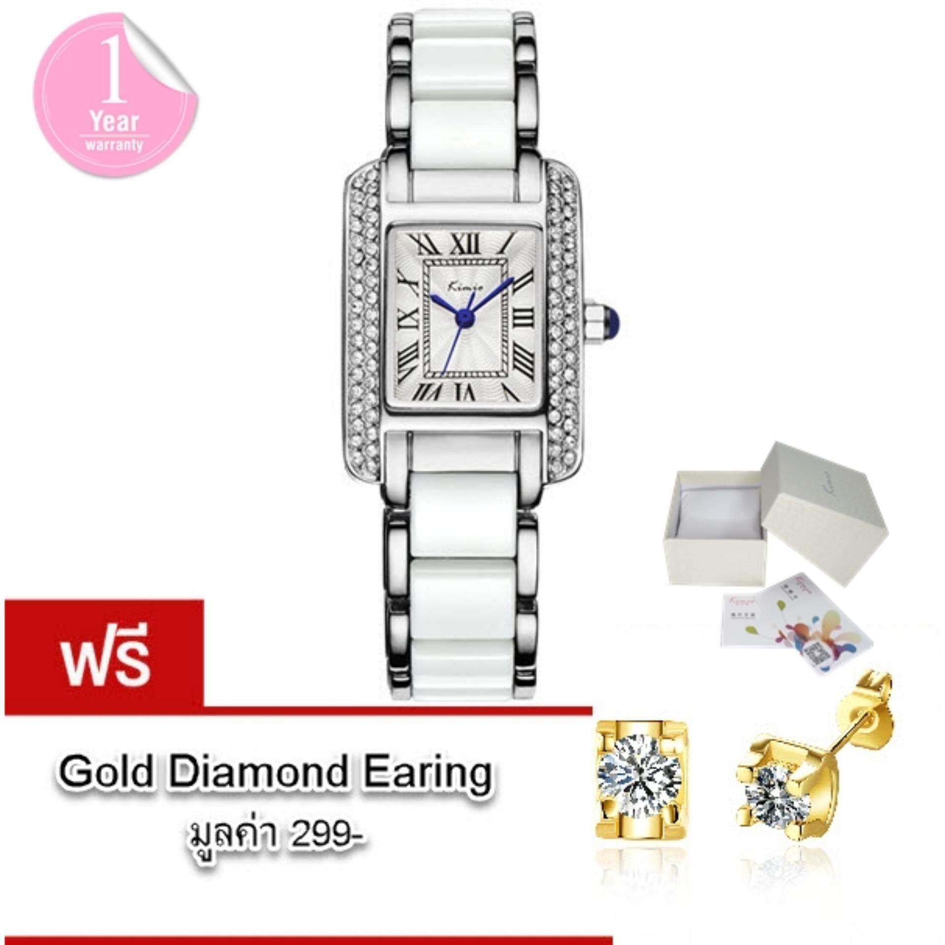 ขาย Kimio นาฬิกาข้อมือผู้หญิง แท้ 100 สาย Alloy สุดอินเทรนด์แฟชั่นของสาวๆ รุ่น Kw6036 พร้อมกล่อง Kimio แถมฟรี ต่างหู Gold Diamond มูลค่า 299 Kimio