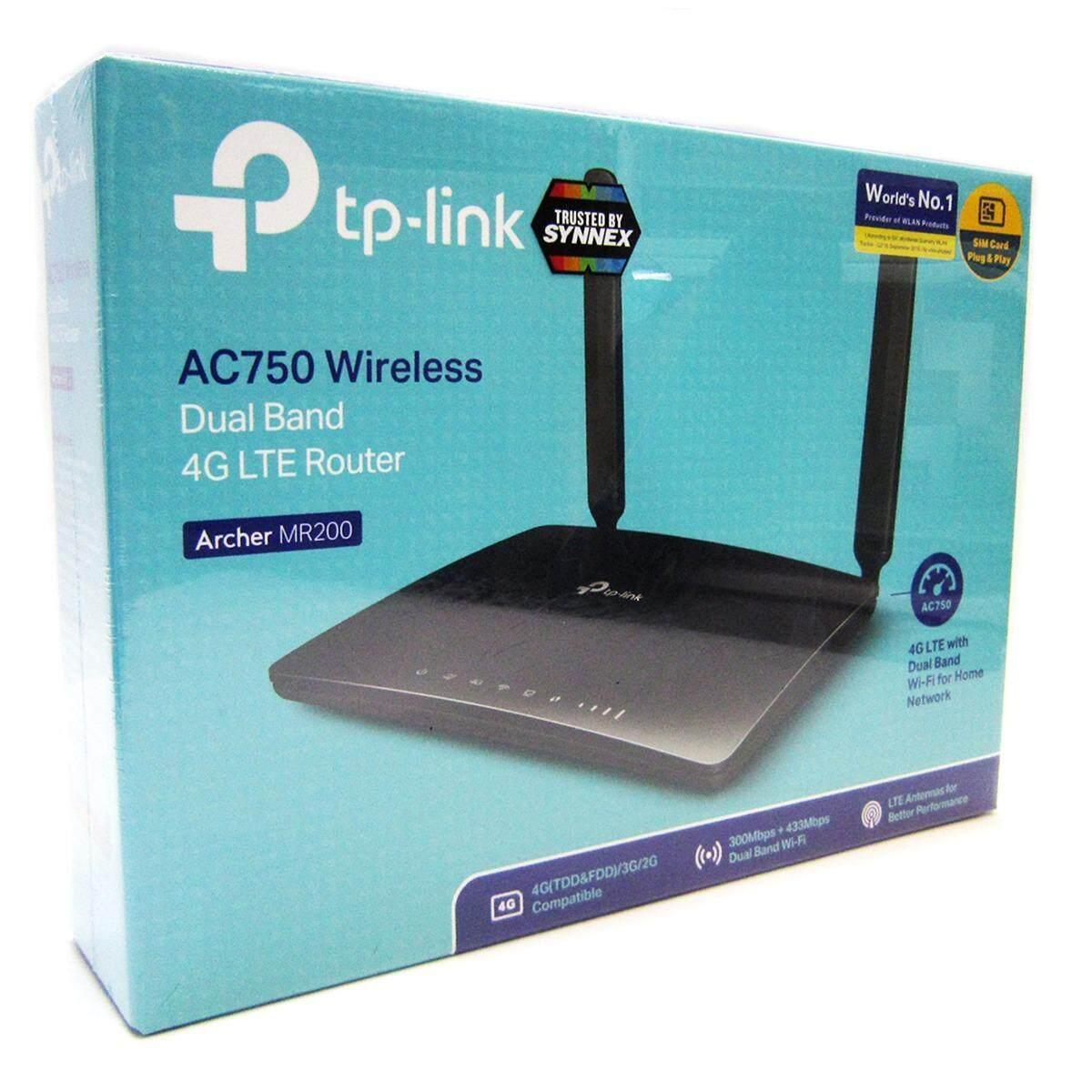 ขาย ซื้อ ออนไลน์ Tp Link Archer Mr200 ส่งโดยKerry ประกัน3ปีSynnex Ac750 Wireless Dual Band 3G 4G Lte Router มีLan 4 Port
