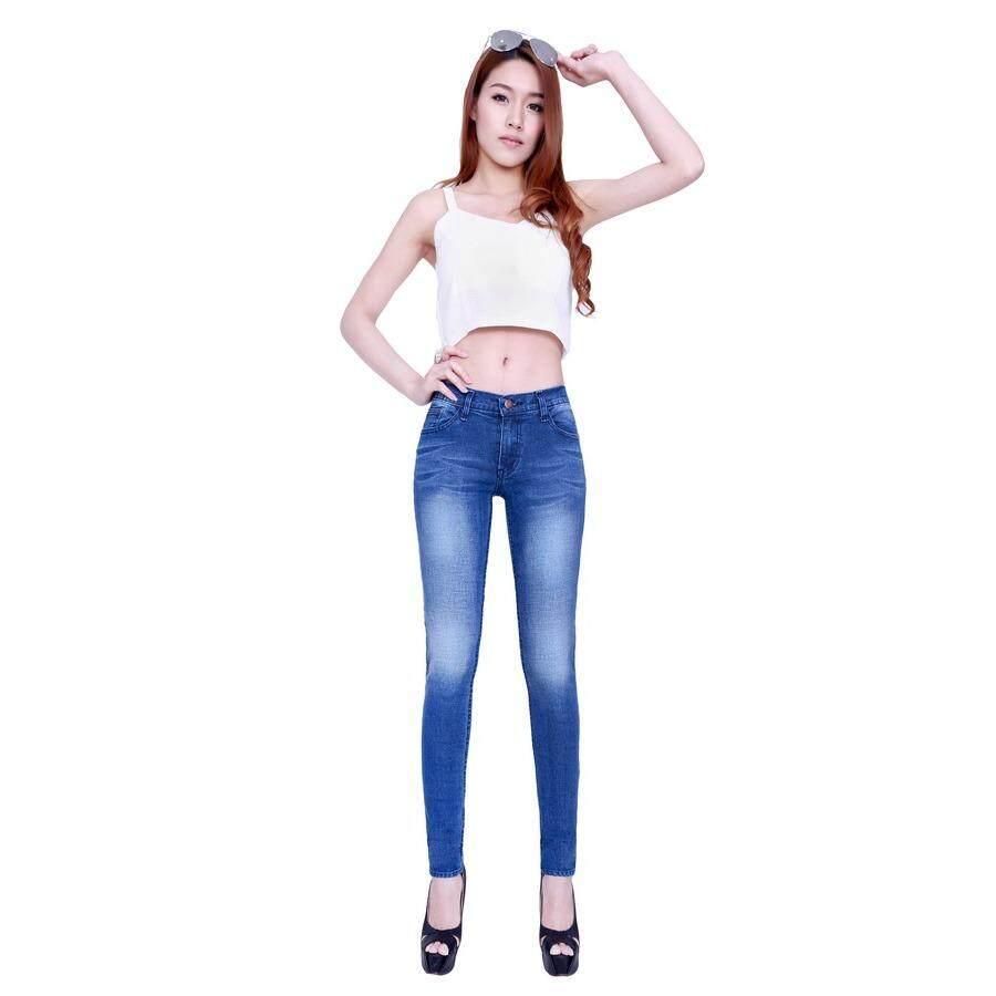 ราคา Eiffel Jeans กางเกงยีนส์ สกินนี่ ขายาว รุ่น คลาสสิค E008 สีน้ำเงิน ออนไลน์