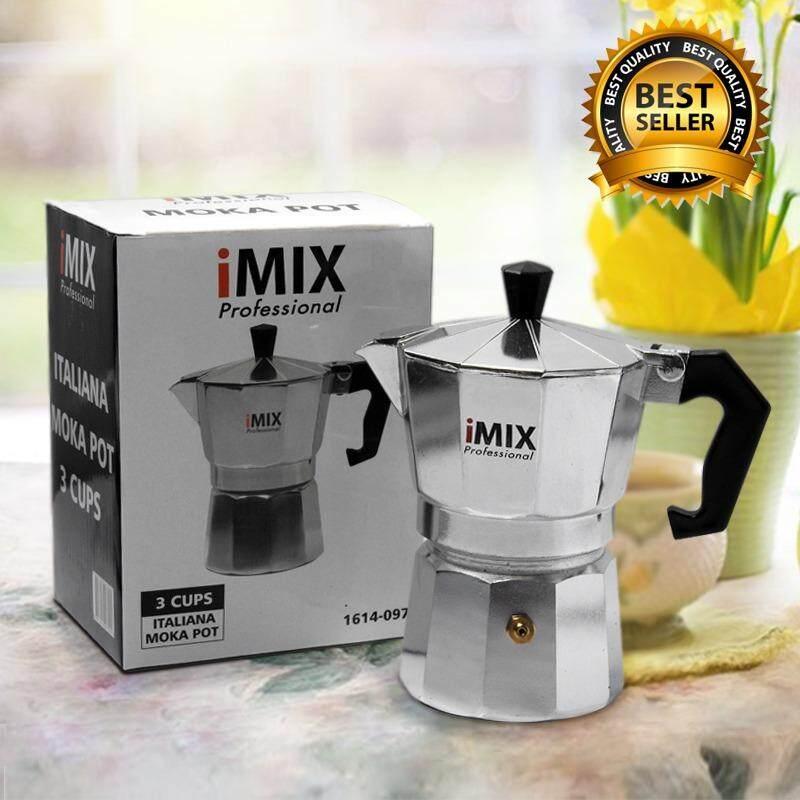 ราคา I Mix Moka Pot หม้อต้มกาแฟสด มอคค่าพอท สำหรับ 3 ถ้วย 150 Ml ราคาถูกที่สุด