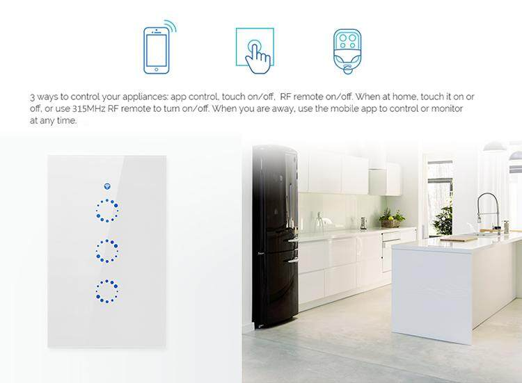 สวิทช์ไฟสัมผัส wifi Smart Wall Touch Switch 1 gang WiFi - DMS Smart