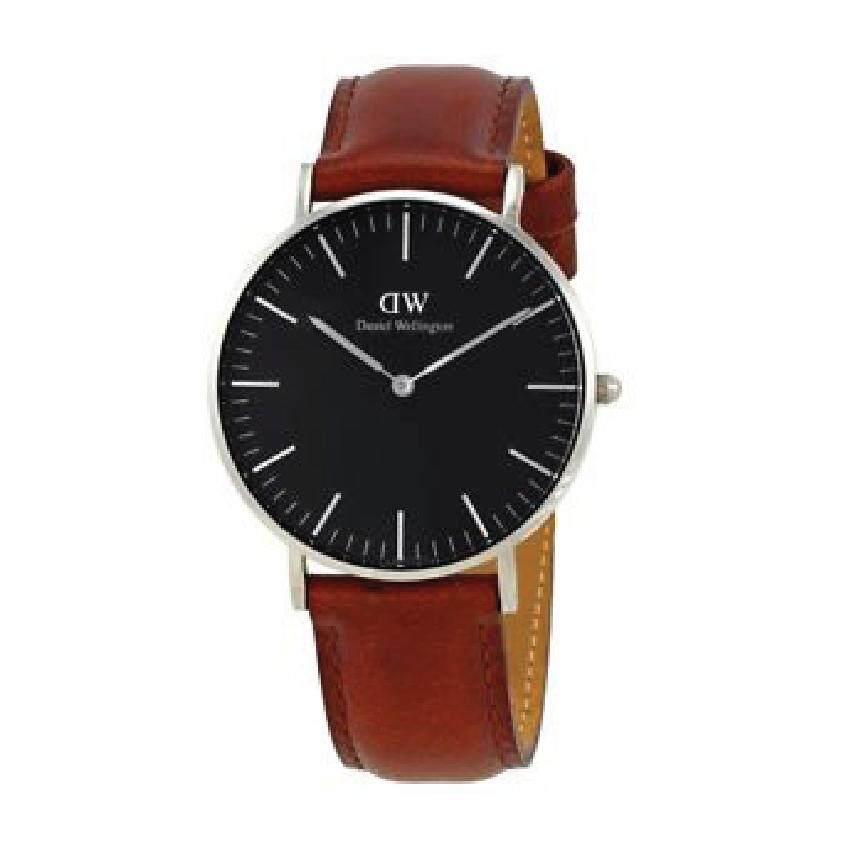 ทบทวน Daniel Wellington Dw00100130 Classic Black St Mawes Horloge 40Mm นาฬิกาข้อมือ แฟชั่น ผู้ชาย สายหนัง สีน้ำตาล Men Watch Silver Case Brown Strap