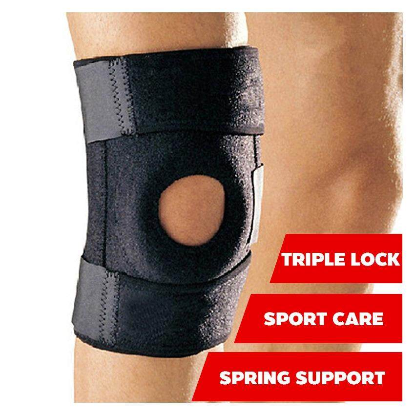 ราคา สนับเข่า สายรัดเข่า ที่รัดเข่า ป้องกันการกระแทกและบรรเทาอาการปวดเข่า Knee Support สีดำ ใน กรุงเทพมหานคร