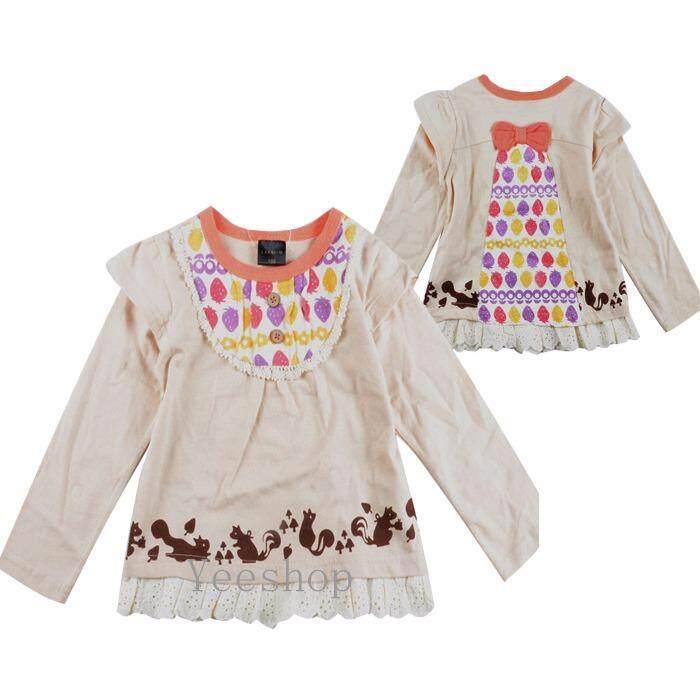 ราคา Yeeshop เสื้อเด็กแขนยาว สไตล์ญี่ปุ่น ลายสตอเบอร์รี่ 95 3Years Yeeshop Thailand