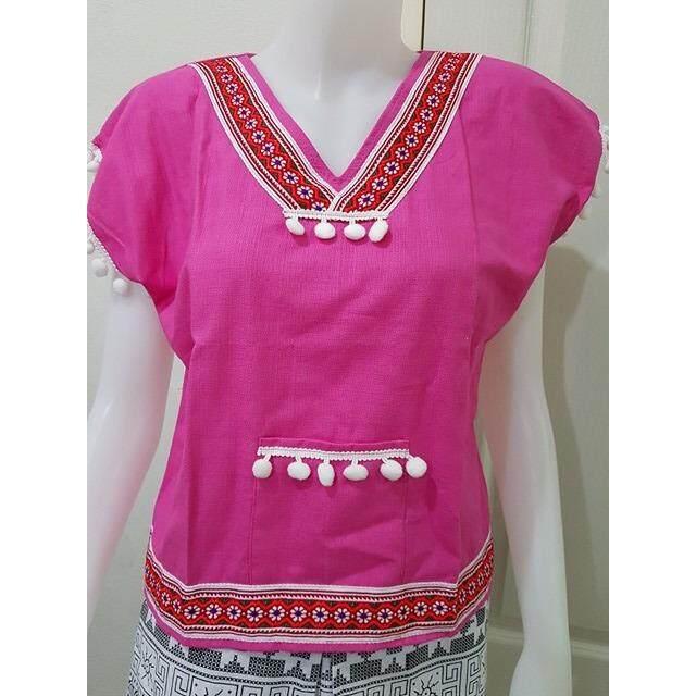 โปรโมชั่น Chaodoi Clothes เสื้อผ้าฝ้าชินมัย สีชมพู Chaodoi Clothes