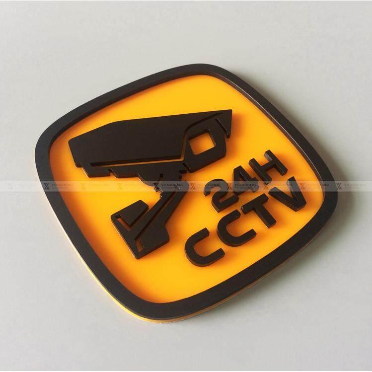 ราคา Buy 1 Get 1 Free 10 X 10Cm Waterproof Indoor Outdoor Security Surveillance Monitor Camera Pmma Acrylic 24H Warning Sticker Sign Asian Trends