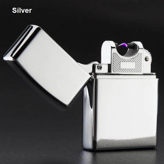 ขาย ไฟแช็ค ไฟแช็คไฟฟ้า ชาร์ตด้วย Usb ไฟแช็คพลาสม่า Plasma Lighter สีเงิน 1หัว 11D เป็นต้นฉบับ