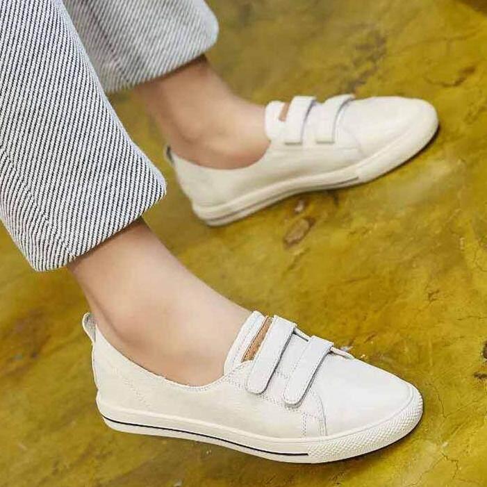 ซื้อ Meres รองเท้าแฟชั่น รองเท้าหนังแท้ 100 Leather Flat Shoes Slip Ons Walking Casual Shoes 1711 ออนไลน์ ไทย